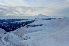 6K. Timelapse sunrise in the mountains Elbrus, Northern Caucasus, Russia.  Stock Footage