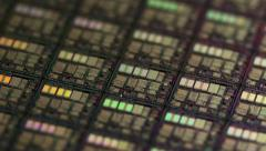 CPU Microchip Wafer Rotation Loop 4k Stock Footage