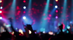 Footage of a crowd partying at a rock concert - stock footage