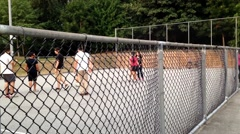 People playing basketball Stock Footage