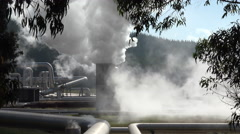 Wairakei geothermal power station, New Zealand Stock Footage