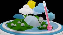 WEATHER Theme. Motion graphics. With alpha channel. Stock Footage