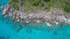 Tropical island coastline Stock Footage