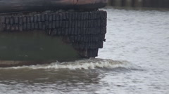 Tugboat in Savannah Georgia Port Stock Footage