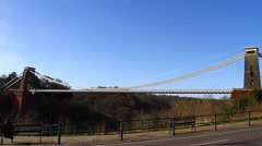 Clifton Suspension Bridge, Bristol - Ultra Wide HD 2 Stock Footage