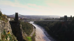 Clifton Suspension Bridge, Bristol - Ultra Wide HD Stock Footage