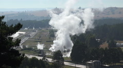 Wairakei geothermal power station, New Zealand - stock footage