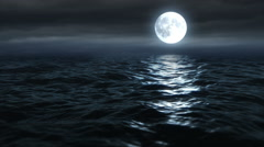 Moon Over The Ocean 25fps HD - stock footage