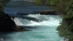Zoom out, Hukafalls on Waikato River, Taupo, New Zealand Stock Footage