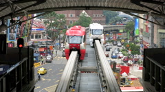Monorail trains at Bukit Bintang station Stock Footage