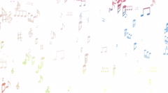 Abstract musical background with notes - seamless loop - stock footage