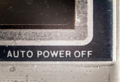 Auto Power Off Stock Photos