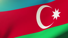 Azerbaijan flag waving in the wind. Looping sun rises style.  Animation loop Stock Footage