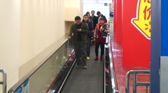 Shenzhen, China: Elevator WAL-MART supermarket Stock Footage