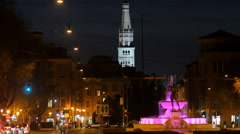 Modena ghirlandina tower at night 4k Stock Footage
