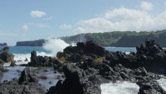 Maui Beach Park, Keanae Peninsula, Road to Hana, Red Camera 4k, UHD - stock footage