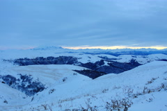 6K. Timelapse sunset in the mountains, Northern Caucasus, Russia. Ultra HD Stock Footage