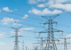 Electrical Transmission Towers (Electricity Pylons) Stock Photos