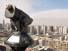 Telescope in Santiago - stock photo