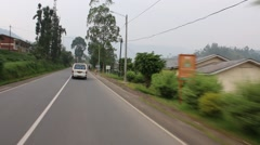 Stock Video Footage of Passing Street Scene Outside Kigali, Rwanda