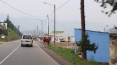 Stock Video Footage of Following a Minibus/Van in Kigali, Rwanda