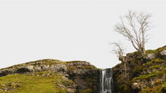 Cray waterfall Stock Footage