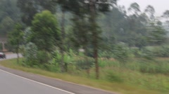Rich Countryside and Landscape of Rwanda Stock Footage