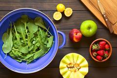 Rucola and Fruits Stock Photos
