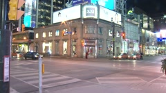 DUNDAS SQUARE TORONTO Stock Footage