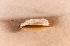 detail of salt basins in saline de Janubio - stock photo