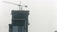 Stock Video Footage of High-rise condo construction