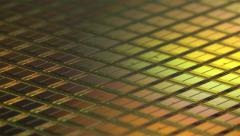 Computer Memory Wafer Rotation Loop 4k Stock Footage