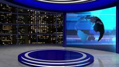 News TV Studio Set 61-Virtual Green Screen Background Loop - stock footage