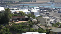 Zoom out for general view of Napier town, New Zealand Stock Footage