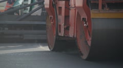 Bridge road reconstruction Stock Footage