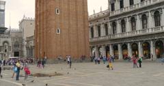 Tilt of San Marco, Venice (Venezia)  is a city in northeastern Italy Stock Footage
