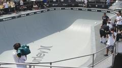 Slow air in skateboarding Stock Footage