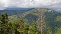 Beautiful Mountain Valley View At Crocker Range, Pan Right And Zoom Out Stock Footage