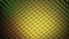 Computer Flash Memory ROM Wafer 4k Stock Footage