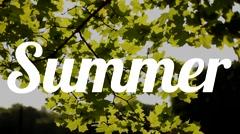 Summer sun text stencil Stock Footage