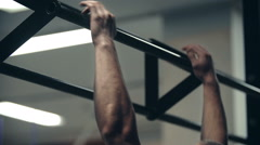 Fixed Bar Workout Stock Footage