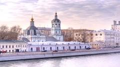 Moscow. Raushskaya embankment Stock Footage