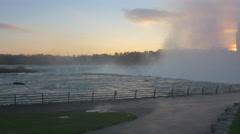 Niagara Falls view from Niagara Falls State Park Stock Footage
