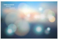 vector illustration of soft colored abstract blurred light background layout - stock illustration