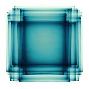 Greenish blue sandwich fractal - stock illustration