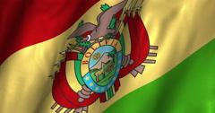 Bolivia Waving Flag-4K Stock Footage