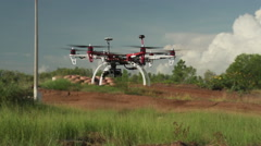 Hexacopter drone hovering 200 FPS Stock Footage