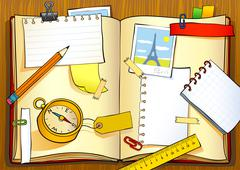 Notebook of traveler - stock illustration