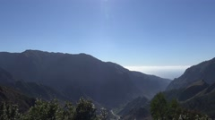 4k Encumeada mountain region with blue sky in Madeira Stock Footage