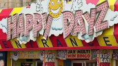 Happy dazy entrance entertainment centre Stock Footage